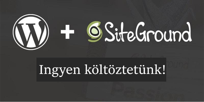 SiteGround tárhely akció - Weboldalad ingyen költöztetjük!